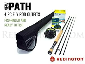 """Redington Path 890-4 Saltwater Fly Rod Outfit (9'0"""", 8wt, 4pc)"""