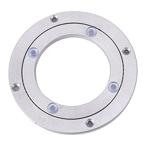 - Yosoo Heavy Duty Aluminium Alloy Rotating Bearing Turntable Round Dining Table Smooth Swivel Plate (Size:4Inch)