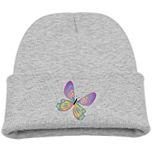 Msiiks Color Butterfly Children's Knit Hat, Warm and Dirty Bones Hat.