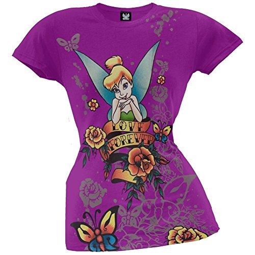 Forever Juniors T-shirt (Tinkerbell - Womens Love Forever Juniors T-shirt Medium)