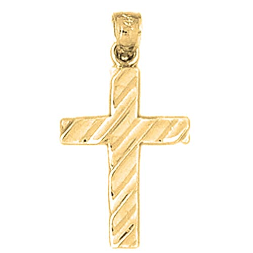 Rhodium-plated 925 Silver Latin Cross Pendant with 16 Necklace Necklaces Jewels Obsession Cross Necklace Pendants