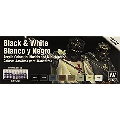 Vallejo Black and White Color Set: Toys & Games
