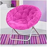 Very Comfortable Mainstays Faux Fur Saucer Chair (Pink) (Pink)