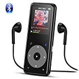 8GB Bluetooth AGPTEK A16 MP3 Player with Touch Button, Lossless Music Player Metallic Body with 1.8in TFT Screen & headphones, Support up to 128GB, Black