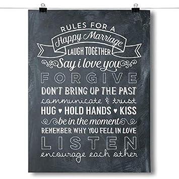 Amazon.com: Inspired carteles Reglas para una matrimonio ...
