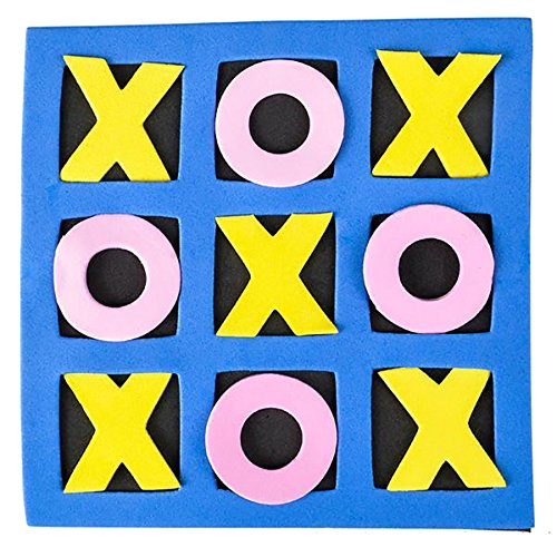 5'' x 5'' Kids Foam Tic Tac Toe, Party Favor, 24 Pack By 4E's Novelty,