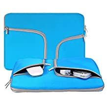 egiant 14-15.4 Inch Laptop Chromebook Case Sleeve ,Waterproof Neoprene Zipper Briefcase Carrying Cases Bag for Laptops Notebook Computers Macbook Pro 15 (BLUE)