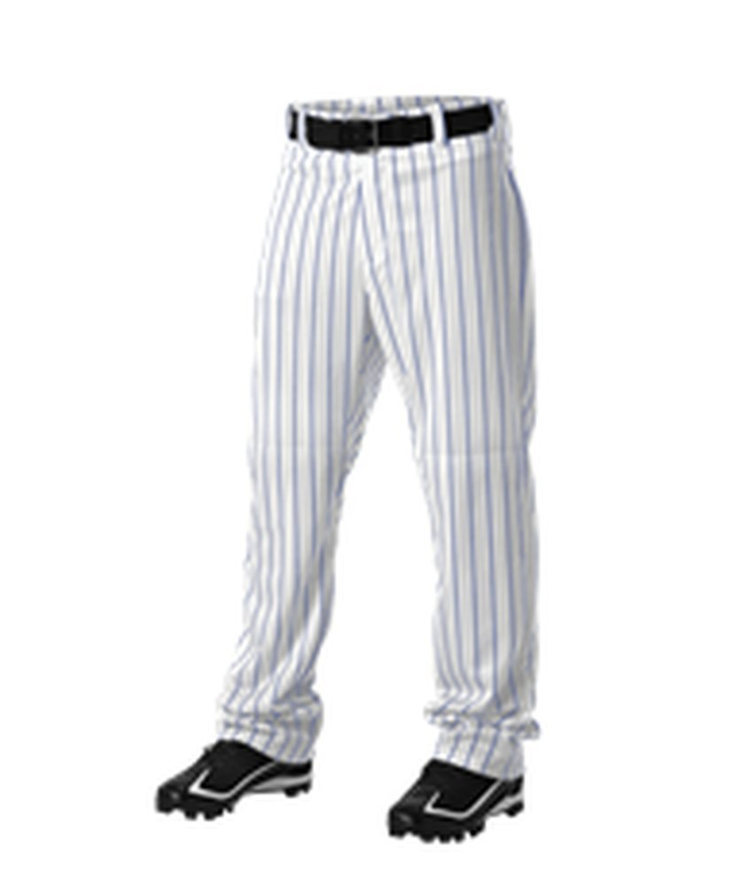 Alleson Athletic PANTS メンズ B071XC93G7 2X|White, Royal White, Royal 2X