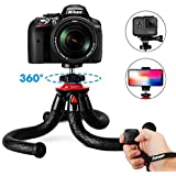 "Flexible Tripod for iPhone Smartphone Camera, Fotopro 12"" Waterproof Tripods with Phone Mount & Bluetooth Remote Control & Sport Camera Adapter for GoPro"