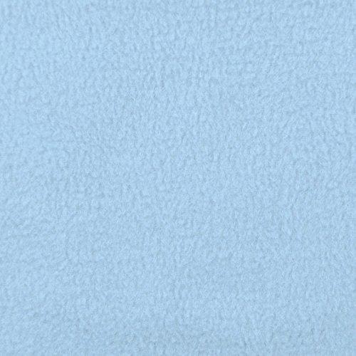 Light Blue Fleece Fabric - By the Yard (Fabric Light Fleece Blue)