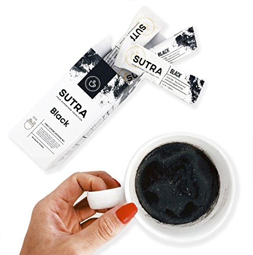 Single Serving Hot Chocolate - Healthy Hot Chocolate Energy Boosting Caffeine-Free Premium Coffee Substitute - SUTRA 10 Single Serving Sticks - Vegan Paleo and Keto Activated Charcoal Superfood Blend - Gluten Dairy and Sugar Free
