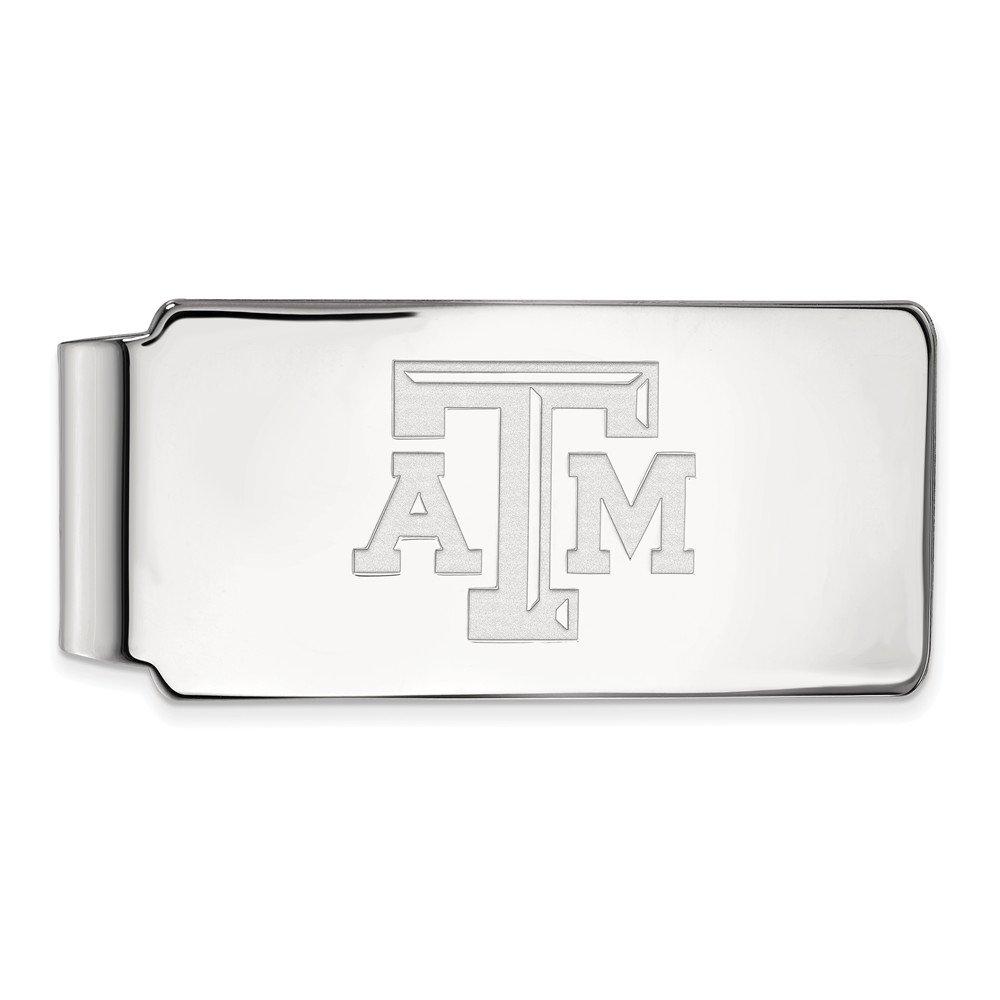 TAMU 14k White Gold LogoArt Official Licensed Collegiate Texas A/&M University Money Clip
