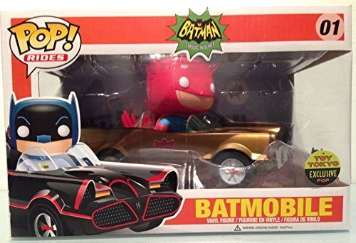 2014 SDCC Funko Pop! Toy Tokyo Gold Batman Batmobile Limited