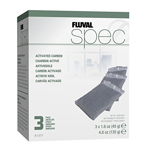 (Fluval SPEC Carbon Filter Media - 3-Pack)