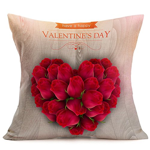 - Throw Pillow Cover, DaySeventh Valentine's Day Fashion Throw Pillow Cases Cafe Sofa Cushion Cover Home Decor L 18x18 Inch 45x45 cm