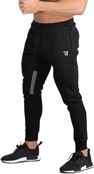 BROKIG Pantalones de Chándal de Gimnasio para Hombre Joggers ...