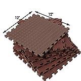 SUPERJARE-Eva-Foam-Interlocking-Tiles-Protective-Flooring-Mat-with-Borders-Dark-Wood-GrainLight-Wood-Grain