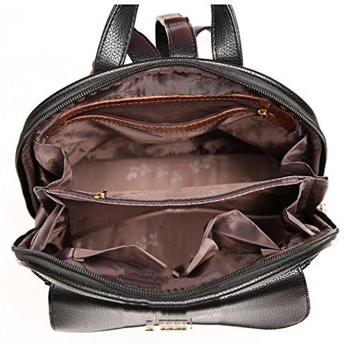 Longzibog Dual verstellbare Schultergurte und Hängeschlaufenband Mode Damen accessories hohe Qualität Einfache Tasche Schultertasche Freizeitrucksack Tasche Rucksäcke Pink