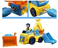 Techege Toys Bump'n'Go Convertible Smart Truck Kids Excavator Dump Truck Learn'n'Play Fun Lights and Sounds