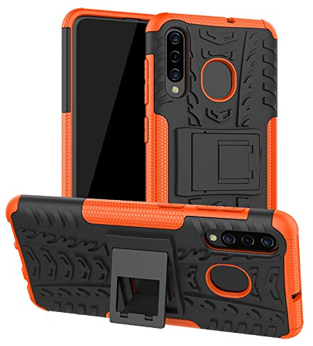 Galaxy A50 Case, Galaxy A30 Case, Galaxy A20 Case, Yiakeng Shockproof Slim Protective with Kickstand Hard Phone Cover for Samsung Galaxy A50/A30/A20 (Orange) from Yiakeng
