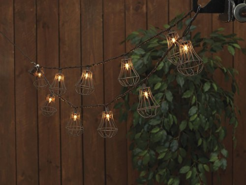 Metal Cage Outdoor String Lights in US - 6