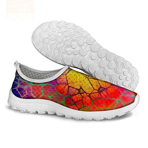 För U Designar Nya Mode Kvinnor Män Komfort Ventilerande Mesh Tillfällig Kör Promenadskor Färg 1