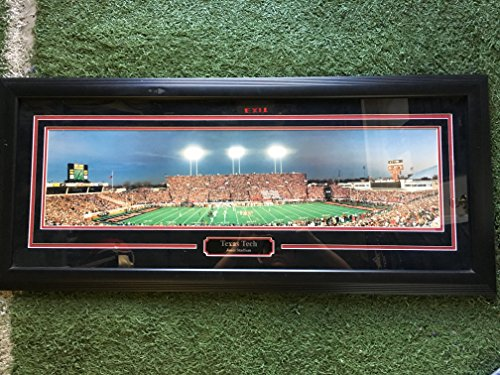 (Texas Tech Jones Stadium Field Large Custom Framed Panoramic Picture Image)