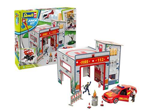 ドイツレベル 1/20 ジュニアキットシリーズ 消防ステーション プレイセット 色分け済みプラモデル 00850