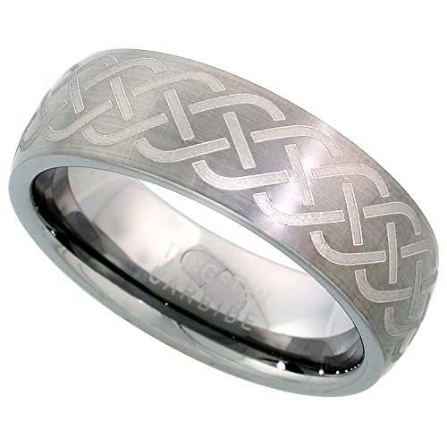 Tungsten Wedding Pattern Brushed Comfort