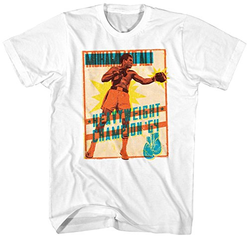 Muhammad Ali- Heavyweight Stamp T-Shirt - Weiß