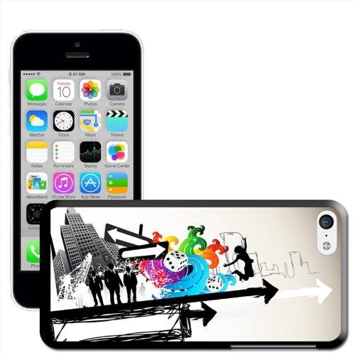 Fancy A Snuggle 'Movement In The City Art moderne Coque arrière rigide à clipser pour Apple iPhone 5C