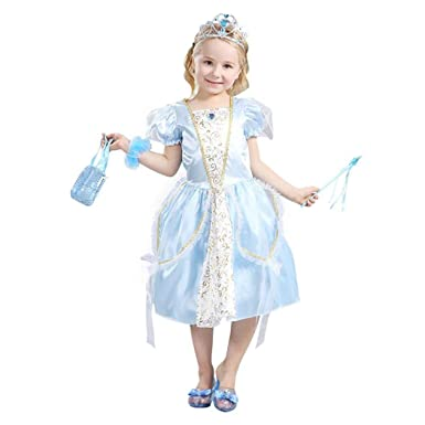 Amazon.com: HÖTER Girls Princess Dress Halloween Costume Party Fancy Dress:  Clothing