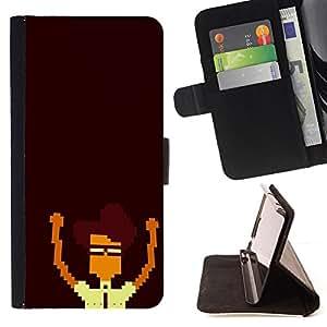 KingStore / Leather Etui en cuir / Samsung Galaxy S4 IV I9500 / Nerd Pixel