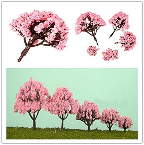 EgBert 5 Tamaño Rosa Cereza Árboles Hadas Jardín Ornamento Planta Pot Decor - Los 6.5 Cm: Amazon.es: Hogar