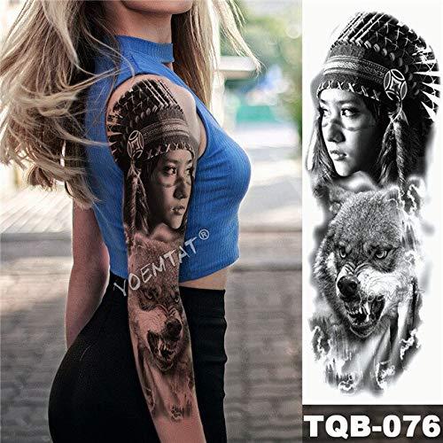 Zhuhuimin 3 unids Brazo Grande Tatuaje Chica Katrina Impermeable ...
