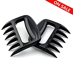 Mothers' Day Gift!!Pulled Pork Shredder Claws by SOTTAE,Best Meat Claws for Shredding,Pulling,Handling,Premium Strength and Sharpness,Black(Set of 2)