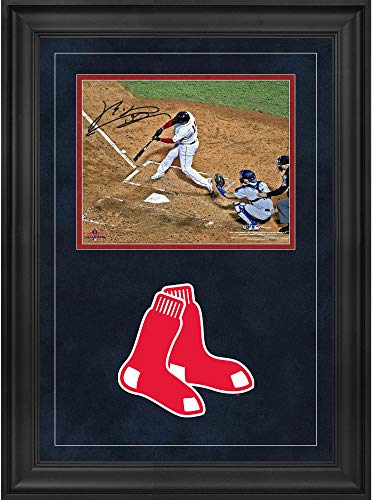 14 Deluxe Framed Collectible - Rafael Devers Boston Red Sox 2018 MLB World Series Champions Deluxe Framed Autographed 8