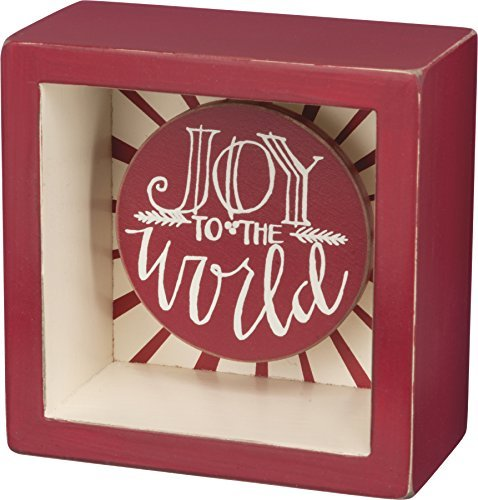 Christmas Box Sign - Joy to the World - Primitives by Kathy