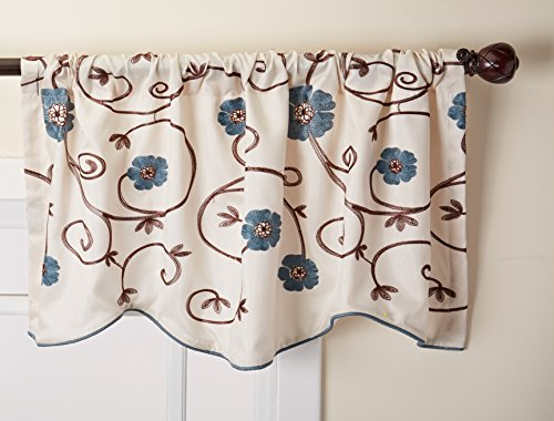 Lush Decor Royal Garden Window Treatment Valance, (Garden Kitchen Curtain)