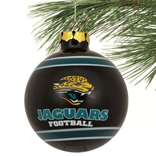 Jacksonville Jaguars 2012 Team Logo Glass Ball Ornament