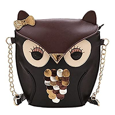 New Fashion Women Leather Handbag Cartoon Bag Owl Fox Shoulder Bags - more-bags