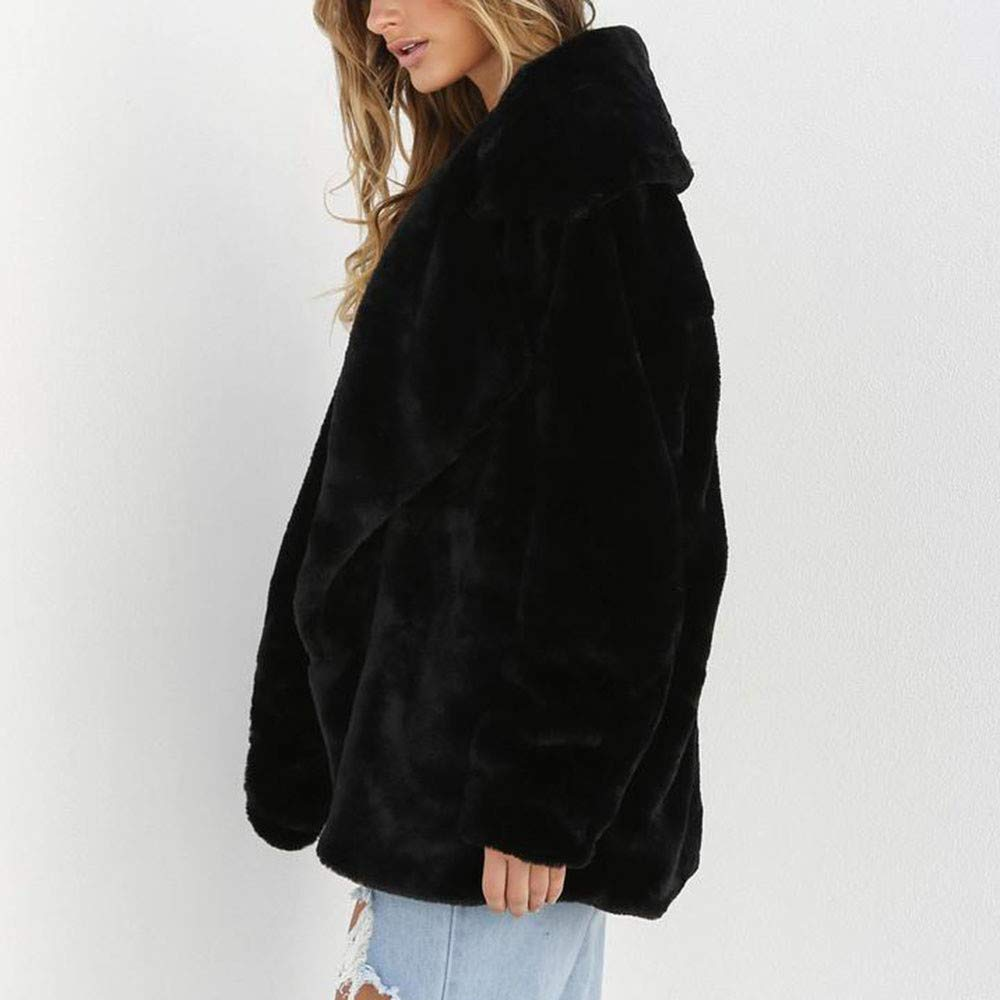 Youngh 2018 New Womens Coat Solid Loose Long Sleeve Big Collar Warm Faux Fur Casual Winter Outerwear Jacket Outerwear: Amazon.com: Grocery & Gourmet Food