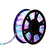 Kinbor 100FT 2 Wire LED Rope Light Home In/Outdoor Christmas Decorative Home Holiday Party Lighting Restaurant Cafe Decor (RGBW)