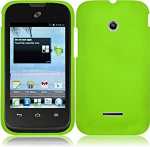 For Huawei Prism 2 Ii U8686 Rubberized Hard Snap On Cover Case Neon Green Accessory