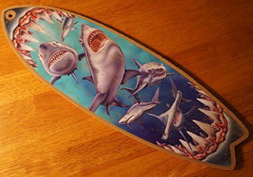 Surfing Switchplate (Great White Shark Mouth Bite Surfboard Sign Beach Surfing Surfer Home Decor)