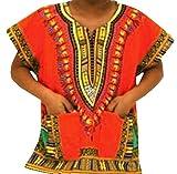 #9: Decoraapparel Dashiki Shirt Boys Hippie Top Unisex African Dashiki Girl Kids Wear Plus Size 34-36