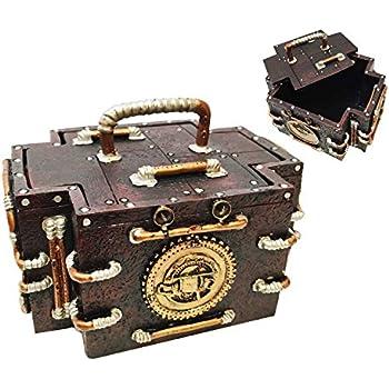 Amazoncom VINTAGE STEAMPUNK GAUGE MEDIC JEWELRY BOX FIGURINE