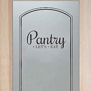 BATTOO Pantry Decal - Pantry Door Decal - Pantry Wall Decal - Kitchen Decor - Pantry Sign - Kitchen Pantry - Kitchen D¨¦cor(Black, 4.6