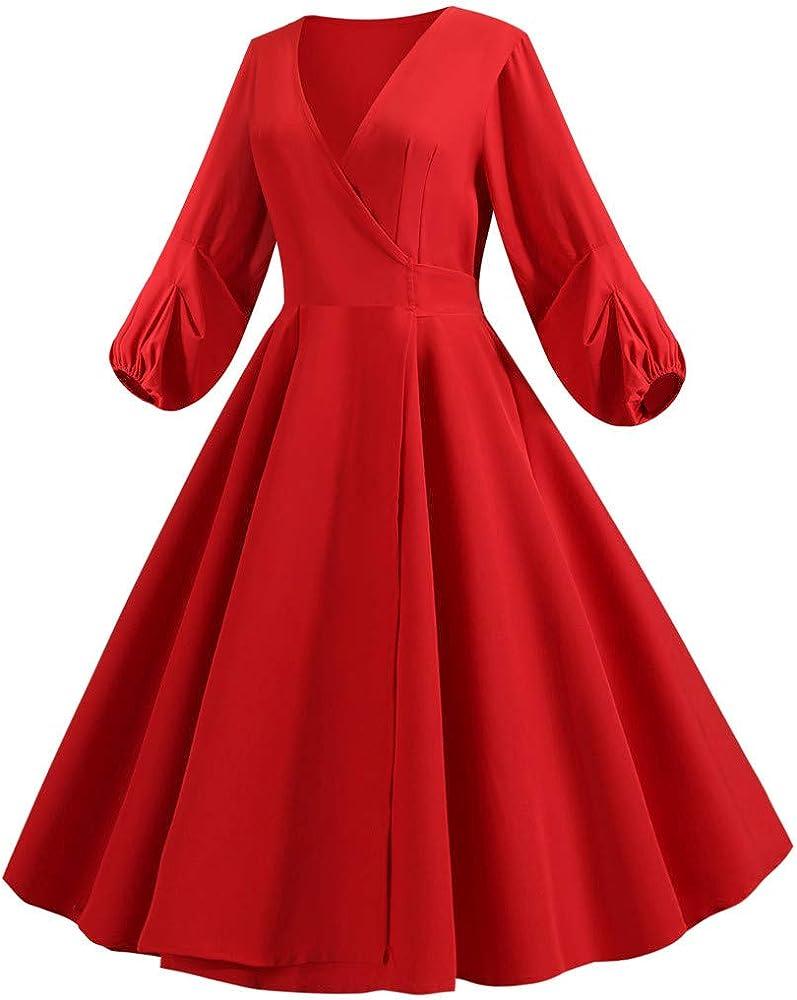 MAYOGO Damen 15er Jahre Kleid Elegant Langarm Hauchhülse Vintage