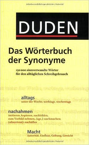 Duden Das Wörterbuch Der Synonyme 150000 Sinnverwandte
